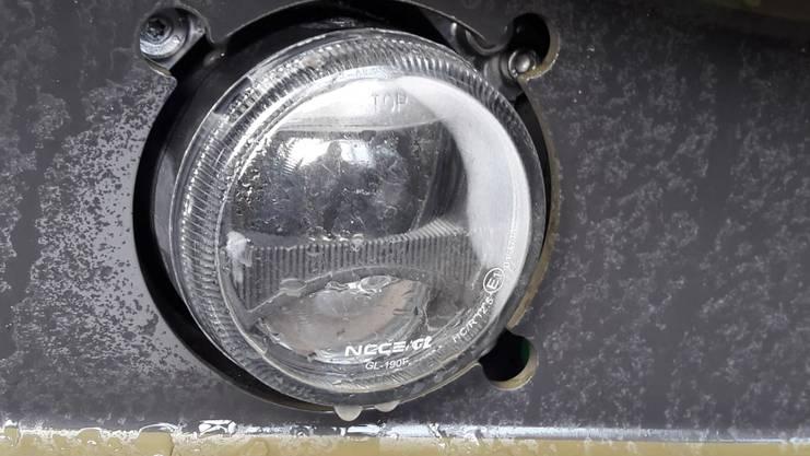 LED-Scheinwerfer mit Kondenswasser.
