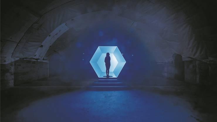Die Installation «A Piece of Sky» entführt die Besucher des Möbelsalons in Mailand in andere Welten.