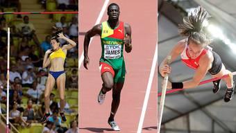 Fabiana Murer, Olympiasieger Kirani James und Nicole Büchler.