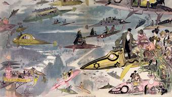 Im Jahr 2000 könnten die Menschen in Paris durch die Luft fahren, spekulierte ein Cartoonist um 1882. Lufttaxis sind in aller Munde, aber noch immer nicht Realität.