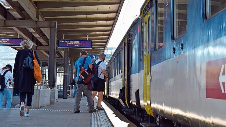 In den kommenden zwei Wochen verkehren die Züge zwischen Frick und Brugg anders.