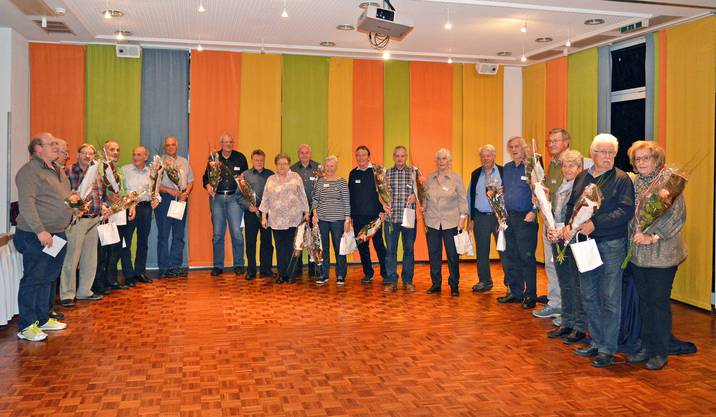 Die 36 Jubilarinnen und Jubilaren unter den Freiwilligen der Regionalstelle Aarau.