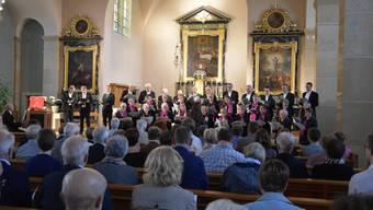 Der Kirchenchor Oberbuchsiten sang ein Werk von Heinrich Schütz und Choräle von Johann Sebastian Bach.