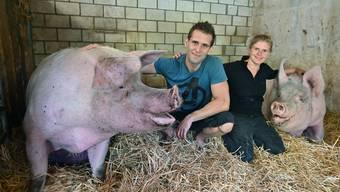 Tier-Arche Hägendorf mit Tanja und Daniel Moser und ihren geretteten Tieren