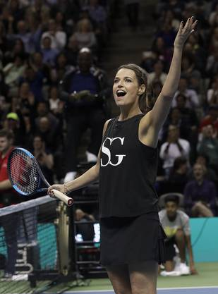 Savannah Guthrie stellte sich dem Duell mit US-Tennisspieler Jack Sock.