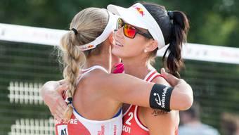 Anouk Vergé-Dépré (links) und Joana Heidrich erreichten die WM-Sechzehntelfinals