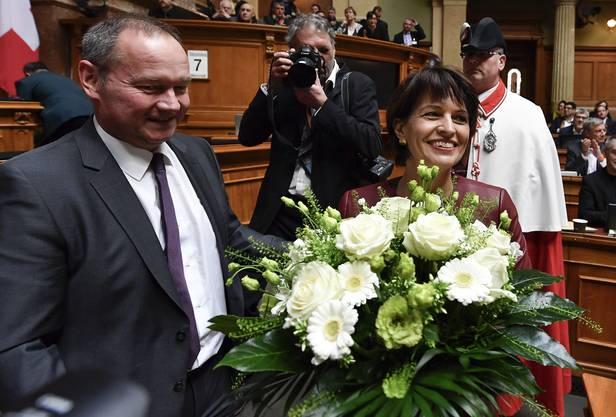 Die Vereinigte Bundesversammlung wählte die Aargauer CVP-Magistratin am Mittwoch mit 188 von 207 gültigen Stimmen - ein gutes Resultat.