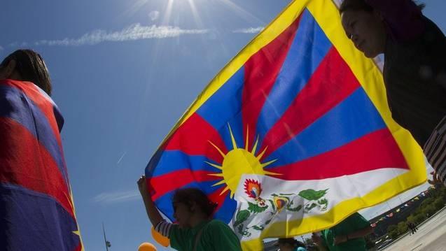 Tibeter Protestaktion – Hunderte Exil-Tibeter in der Schweiz stecken in einer schwierigen Situation. (Symbolbild)