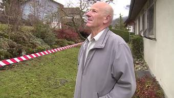 Brand in Welschenrohr: Karl Zettler versuchte vergebens, seinen Nachbarn noch aus den Flammen zu retten.