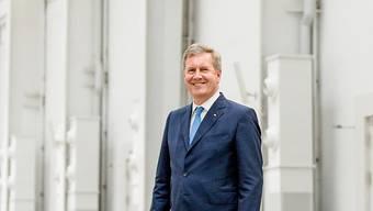 Der ehemalige deutsche Bundespräsident Wulff nach dem Interview im «Trafo» Baden.
