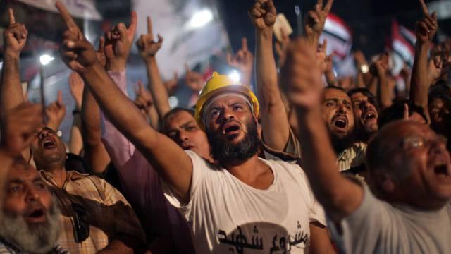 Murs-Anhänger demonstrieren in Nasr City