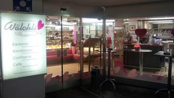 Die Bäckerei Wälchli in der Unterführung des Bahnhofs Aarau.