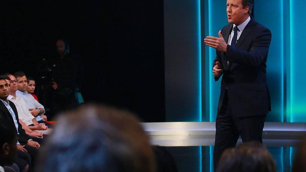 Der britische Premier Cameron befürchtet einen grossen wirtschaftlichen Schaden, sollte Grossbritannien aus der EU austreten.