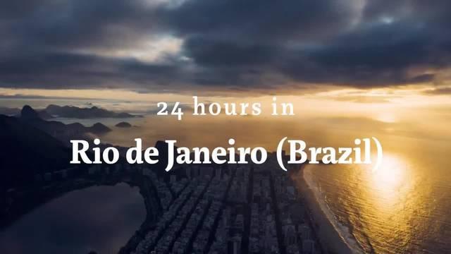 24 Stunden in Rio de Janeiro, Brasilien.