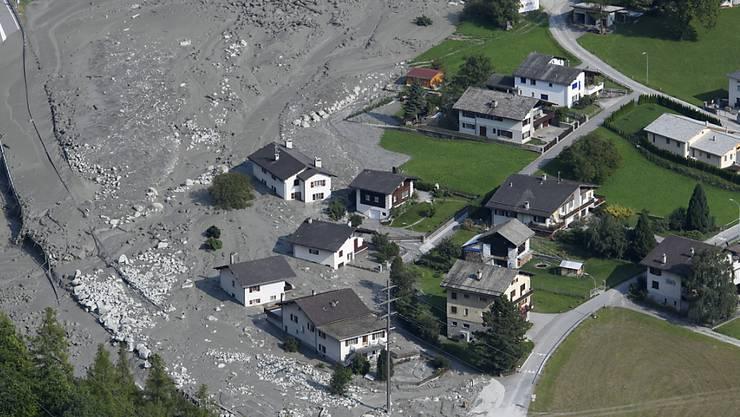 Die Gemeinde Bregaglia beziffert die Kosten durch den Bergsturz vom August in der Region Bondo auf 41 Millionen Franken. (Archivbild)