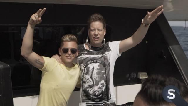 Mit Mr. Da-Nos und Pac Scherhag auf Ibiza