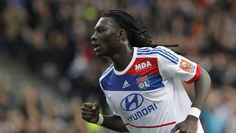 Lyons Bafe Gomis bejubelt sein 2:0 gegen Reims