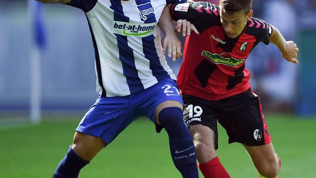Marvin Plattenhardt und Hertha Berlin setzten sich im Duell mit Aufsteiger Freiburg und Janik Haberer durch