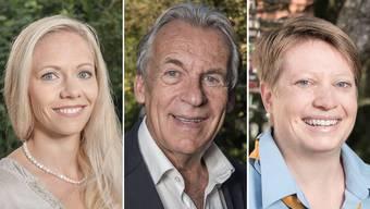 Stehen im Final für den NAB-Award 2016 (v.l.): Marit Neukomm, Pepe Lienhard und Corinna Hauri.
