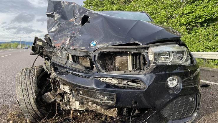 Ein BMW-Fahrer verursachte auf der A1 bei Muhen einen Unfall.