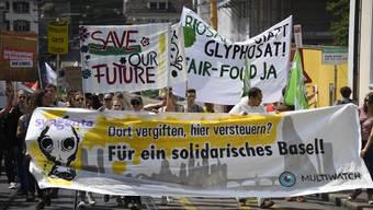 Demo in Basel gegen Syngenta