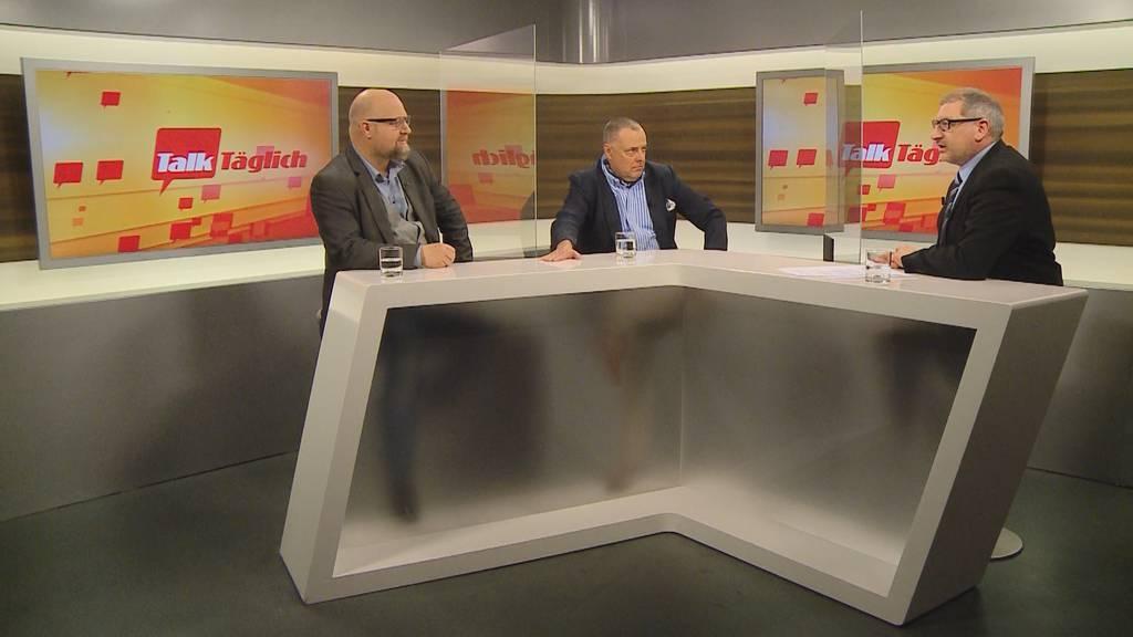 «Bärner Rundi» mit den Stadträten Manuel C. Widmer. und Alexander Feuz