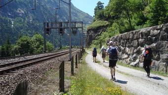 Ganze Strecke abgelaufen: das Lehrerteam auf der Reko-Tour 2018 nahe Wassen.