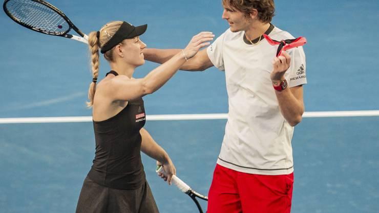 Angelique Kerber und Alexander Zverev fordern in Perth erneut Roger Federer und Belinda Bencic im Final heraus