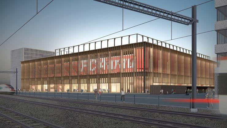 Das neue Stadion für den FC Aarau soll 10'000 Zuschauern Platz bieten.