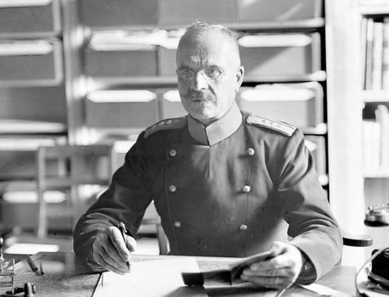 Oberst Karl Egli.
