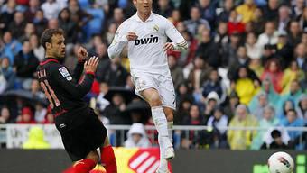 Bei der Schussabgabe zum 43. Saisontor: Cristiano Ronaldo