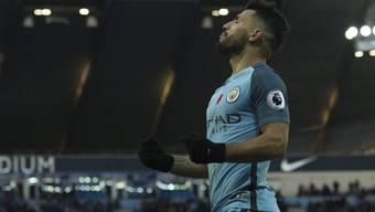 Der Matchwinner beim 2:1-Auswärtssieg gegen Burnley: Manchester Citys Sergio Agüero