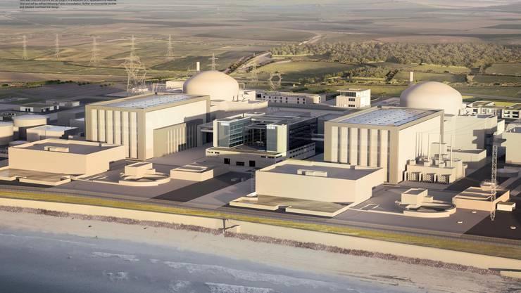 Das erste Atomprojekt in der EU (Somerset, Westküste England) nach Fukushima: Zu den zwei still gelegten Reaktoren (Hinkley Point A) und zwei in Betrieb (Hinkley Point B) sollen noch zwei hinzukommen.