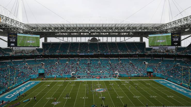 Im Stadion der Miami Dolphins findet der diesjährige Super Bowl statt.