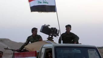 Irakische Soldaten beziehen Position