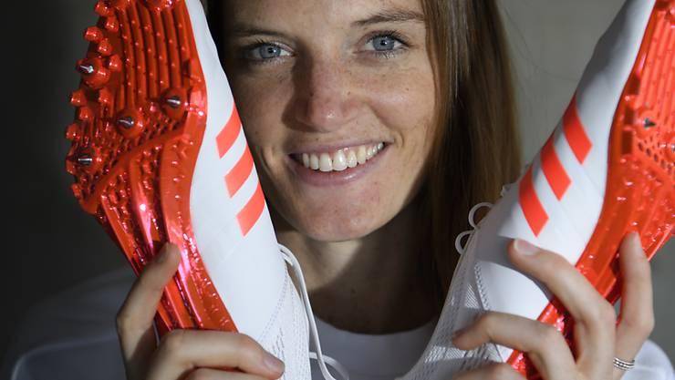 Zufrieden: Lea Sprunger steht an der Hallen-EM in Belgrad im Final