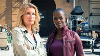 Neue Arbeitskolleginnen: Charlotte Lindholm (l.) und Florence Kasumba.