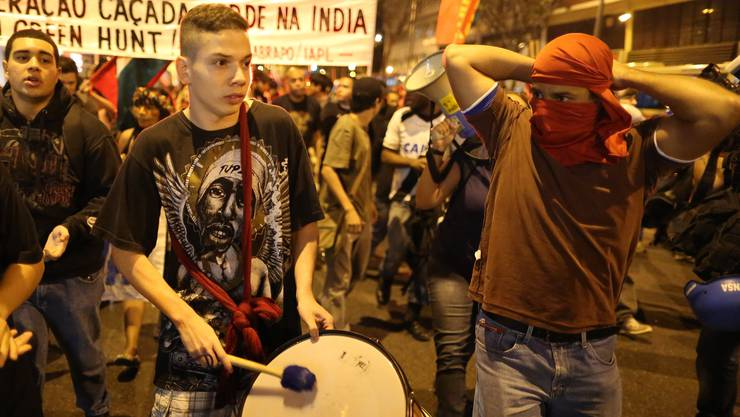 Die Polizei ging mit Tränengas gegen die Demonstranten vor.