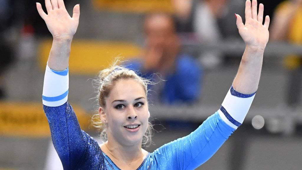 Giulia Steingruber holte erstmals in ihrer Karriere an Europameisterschaften zwei Goldmedaillen
