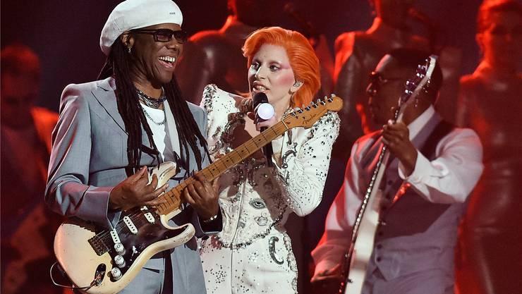 Nile Rodgers und Lady Gaga sind die Antreiber des Disco-Revival 2018.  Getty Images