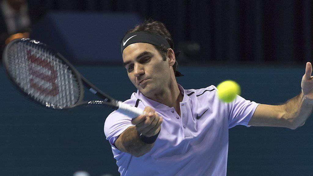 Federer gewinnt sein Startspiel in Basel souverän