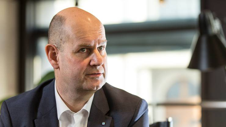 Dieter Widmer, Chef der Aargauischen Kantonalbank.