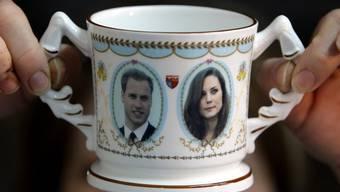 Hochzeitssouvenir mit dem Konterfei von William und Kate