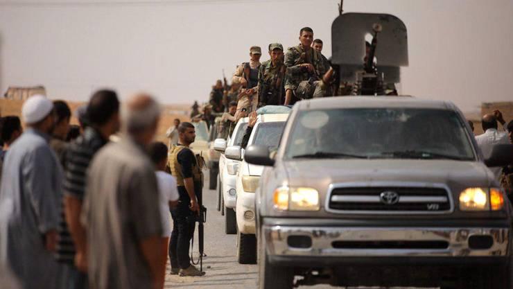 Truppen auf dem Vormarsch in Syrien.