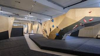 Noch ist nicht alles fertig in der ELYS Boulderloft in Basel.