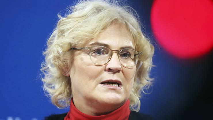 Die deutsche Justizministerin Christine Lambrecht spricht sich nach dem Urteil des deutschen Verfassungsgerichts zur Sterbehilfe dafür aus, auf gesetzgeberischer Ebene vorwärts zu machen. (Archivbild)