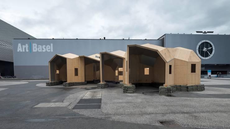 Art Basel auf dem Messeplatz: «Zome Alloy» von Oscar Tuazon
