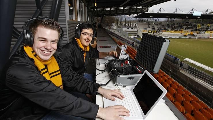 YB-Fanradio Gelb-Schwarz von Newsroom Communication in Vaduz im Einsatz