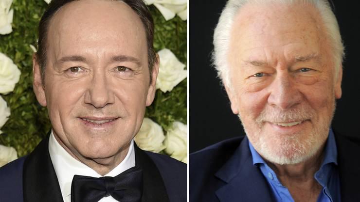"""Fliegender Wechsel: """"All the Money in the World""""-Hauptdarsteller Kevin Spacey (links) wird durch Christopher Plummer ersetzt."""