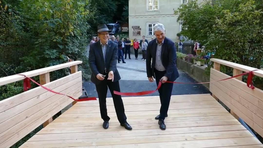 Die neue Brücke in der Einsiedelei ist eingeweiht